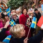 Queen Silvia of Sweden visits the Swedish School in Paris