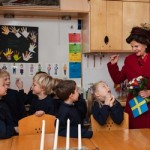 Queen Silvia of Sweden visits the Swedish School in Paris